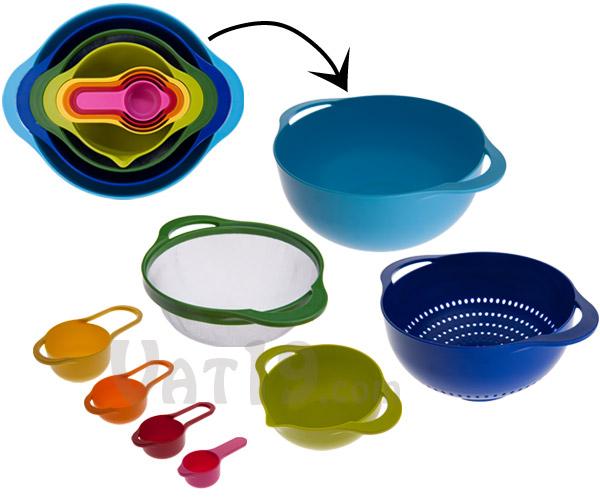 Nest 8 Food Preparation Bowls by Joseph Joseph