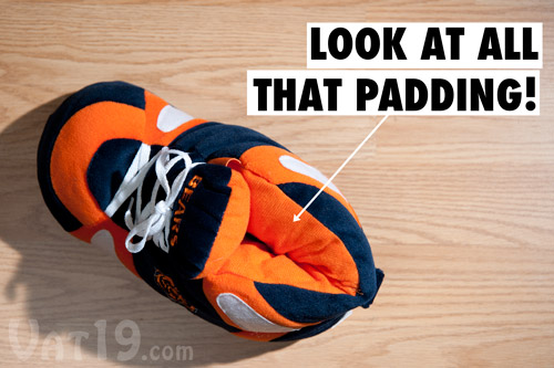 Ultra-plush NFL Sneaker Slippers are extremely comfortable.