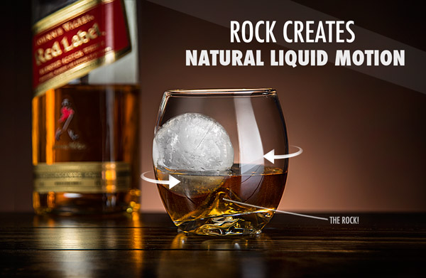 Rock creates natural liquid motion