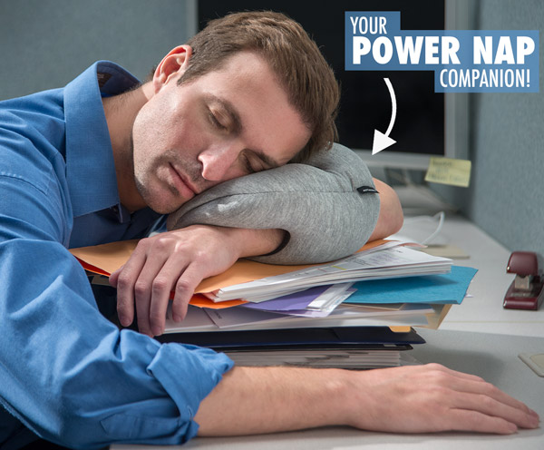 Office nap pillow Original Your Power Nap Companion Global Sources The Ostrich Pillow Mini Ultracompact Power Nap Pillow