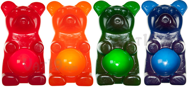 Party Gummy Bear is available in a wide variety of flavors.