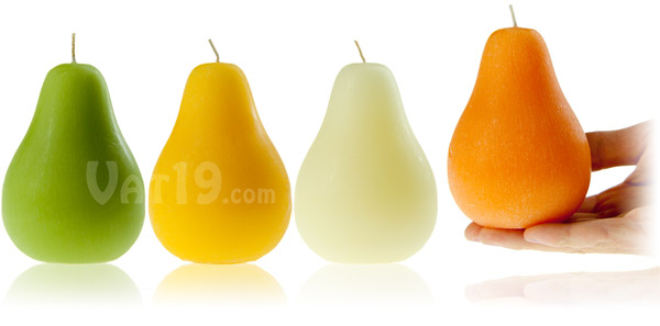 Brushed Pear Scented Candles are available in a variety of styles.