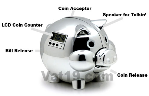 Pig E Bank Electronic PIggy Bank talks