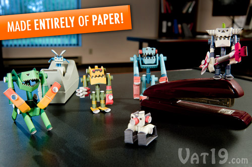 Piperoid Paper Pipe Robots are a fun and easy papercraft project.