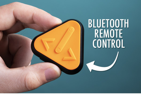 Remote control with bike mount