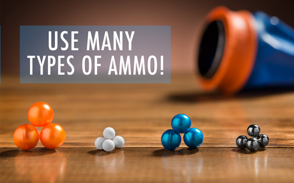 Use many types of ammo!