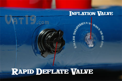 Rapidly deflate your Portable Beer Pong Table with the rapid deflate valve