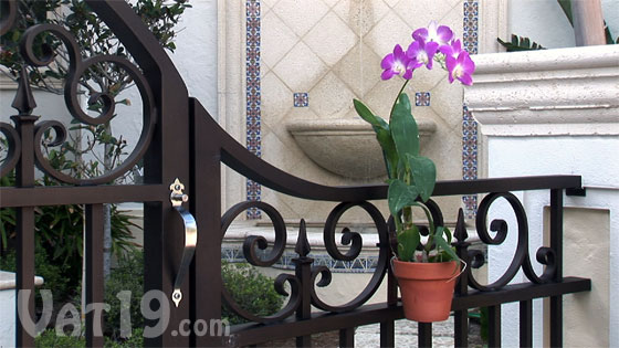 Get creative and use the Pot Latch Pot Hanger to hang pots in unexpected places like a gate.