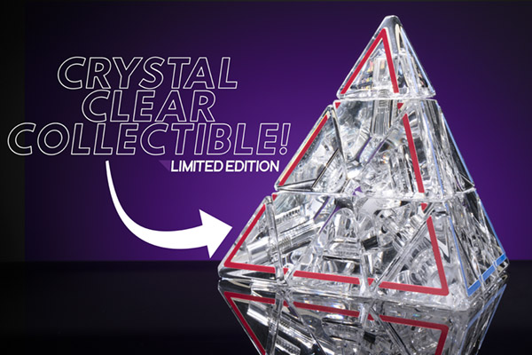 The limited edition Pyraminx Crystal celebrates 50 years of combination puzzling.