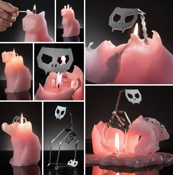 PyroPet Candle: The Creepy Candle with a Metal Skeleton
