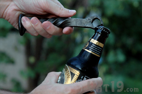 Railroad Spike Bottle Opener