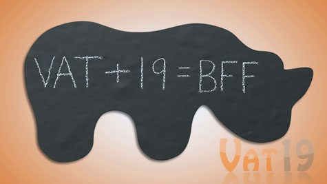 Write messages, math equations, or draw on these chalkboard wall decals
