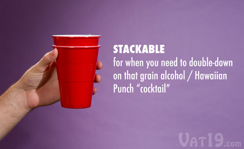The Reusable Plastic Cup is stackable.