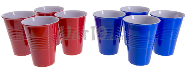 Each order of Reusable Plastic Cups includes four stackable cups.