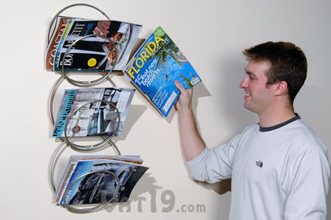 wall magazine rack hanging