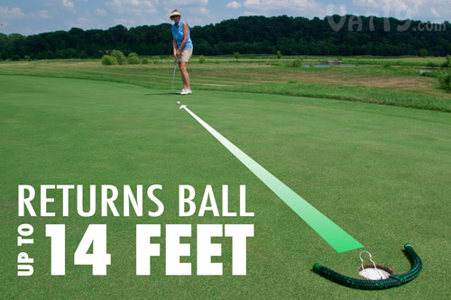 The RoboCup Putt Return Robot returns your ball up to 14 feet.