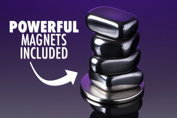 A stack of magnets