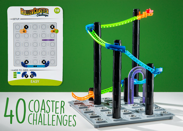 40 coaster challenges from easy to super hard!