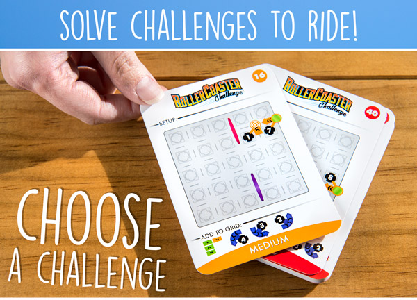 Solve challenges to ride!