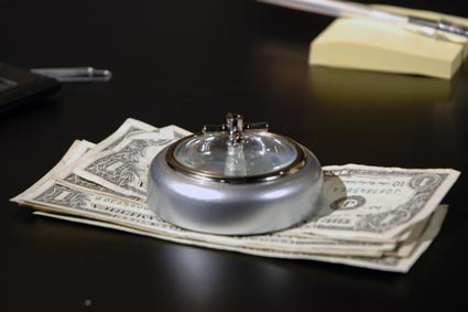 Hold down your papers with the Roulette Paperweight.