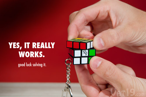 Rubik S 174 Cube Keyring A Fully Functional Rubik S 174 Cube On