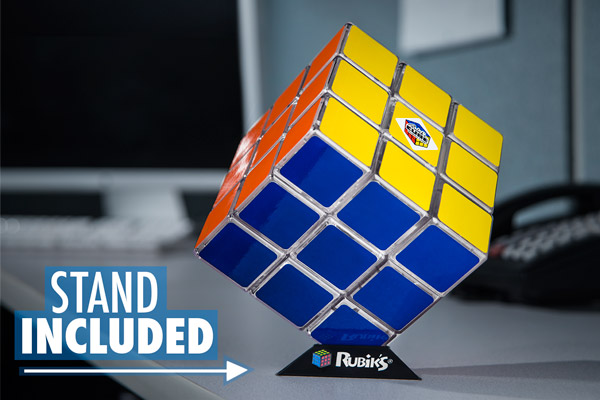 The Rubik's Cube Light includes a display stand.
