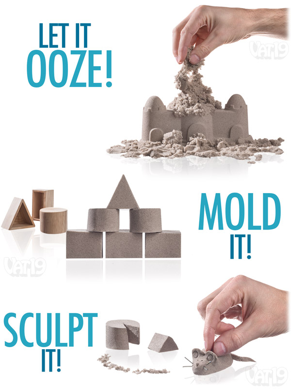 Sand can be molded and sculpted, but it also flows like a liquid. Crazy!