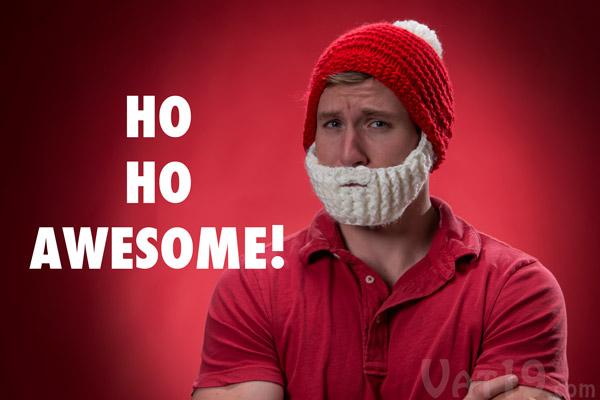 Santa Beardo Beard Hat  Knitted red beanie with detachable white beard. 6766ea3c8f5