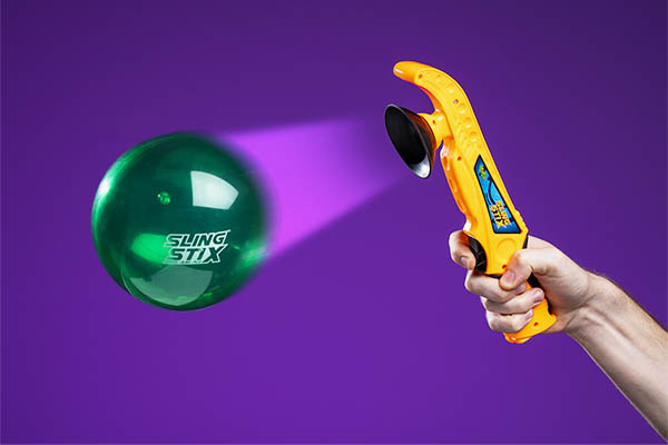 Sling Stix use suction cup and trigger