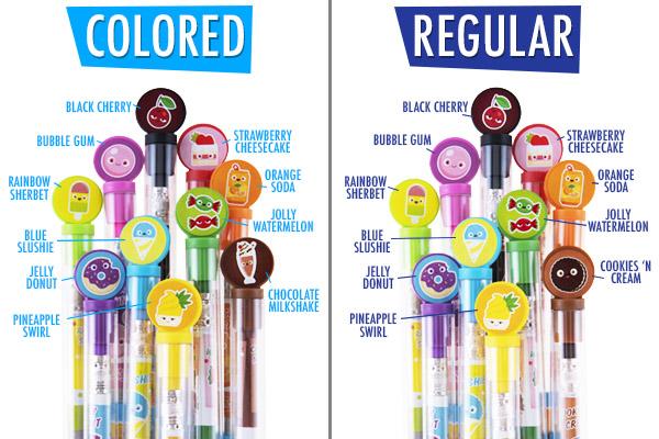 Ten pencils in ten different delicious scents