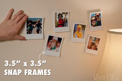 Snap Frames: Set of 9 photo frames styled after instant camera film.