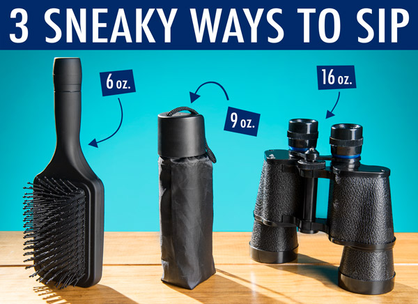 Three sneaky flasks styles