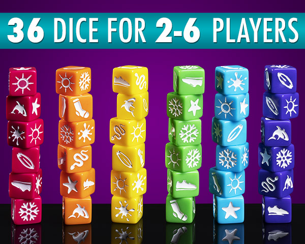 36 dice for 2-6 players