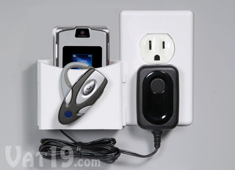 Socket Pocket Organize Your Cell Phone While Charging