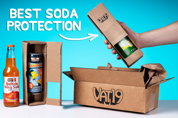 We employ innovative packaging to ensure every soda arrives intact.