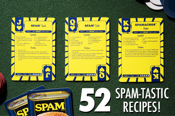 Each card features a different recipe for you to try your hand at.