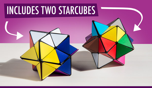Includes two star cubes