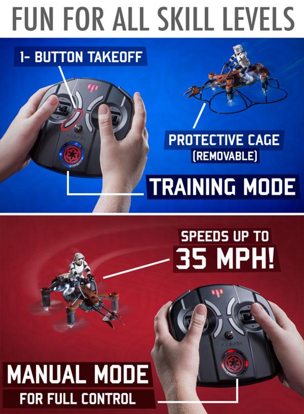 Realistic, advanced controls!