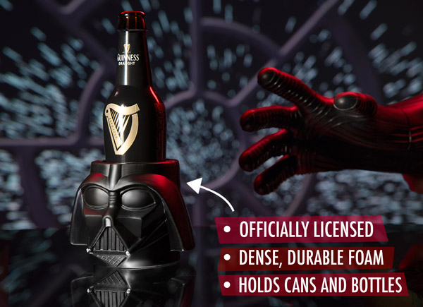 Officially licensed dense, durable foam drink holder for cans and bottles