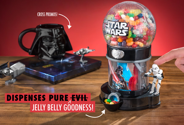 This Bean Machine is a Star Wars themed jelly bean dispenser.