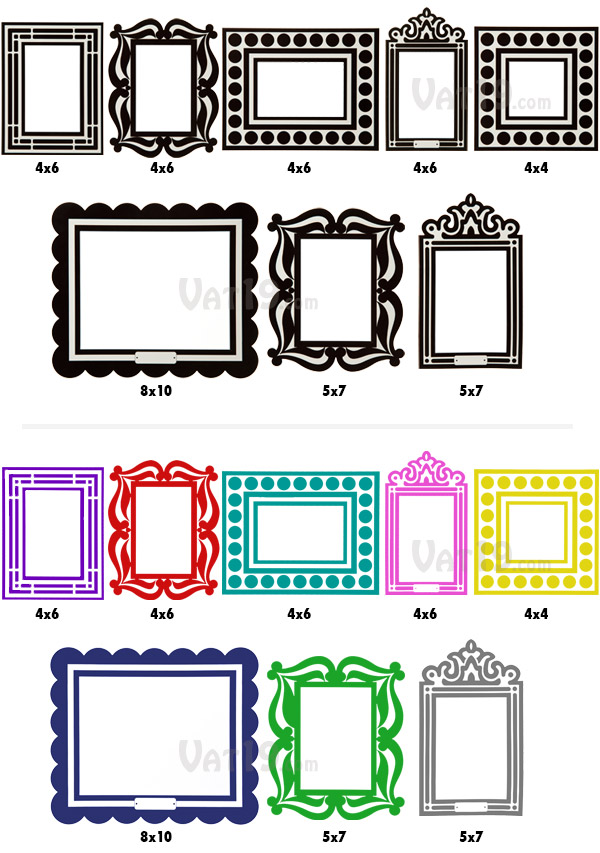 A total of eight removable sticker frames are included in each order
