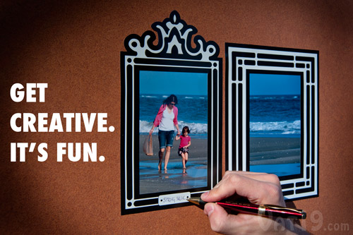 Get creative and split an image across two frames.