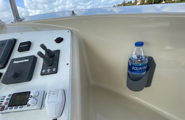 Also makes a great cup holder for the boat!