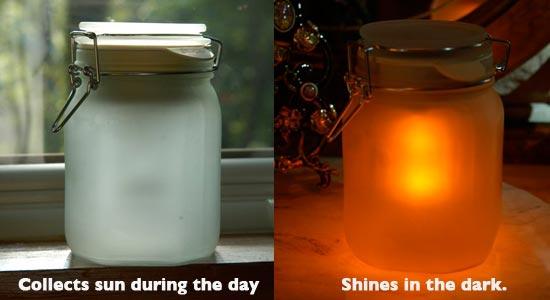 Sun JarStores sunshine in a jar.
