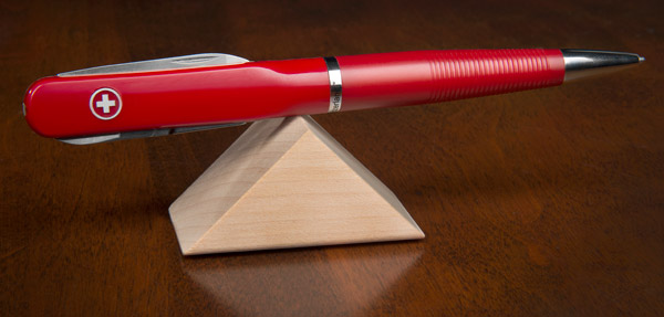 SwissPen multi function pen features perfect balance.