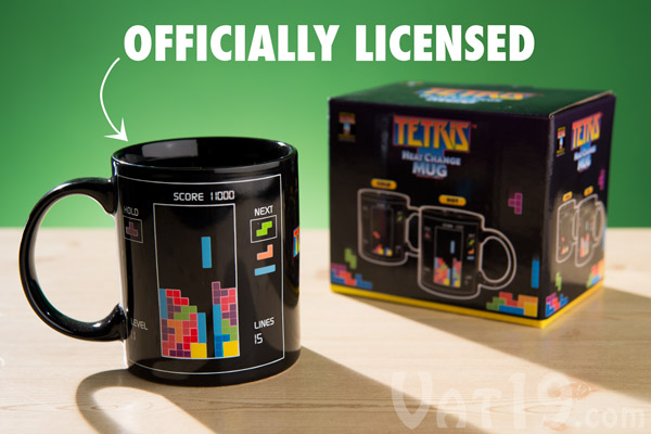 The Tetris Heat Change Mug is an officially licensed Tetris product.