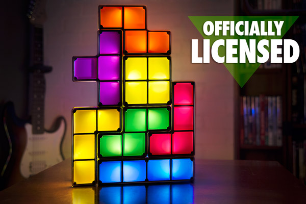 The Tetris Light in a living room. It's looking boss as hell.