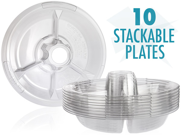 10 stackable plates
