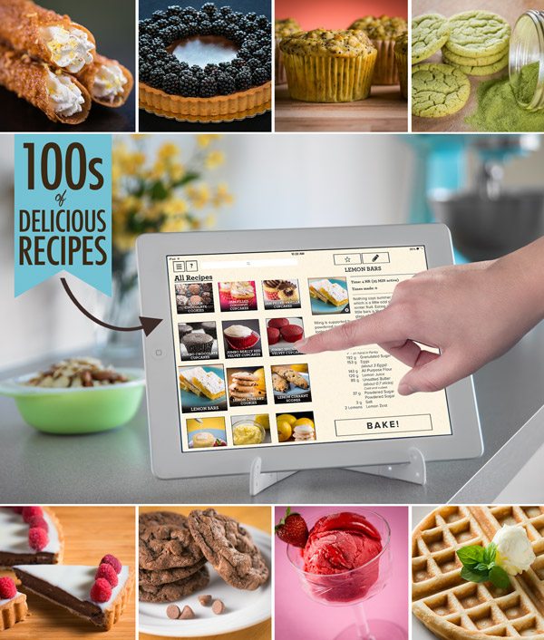 The Perfect Bake app includes hundreds of delicious recipes.