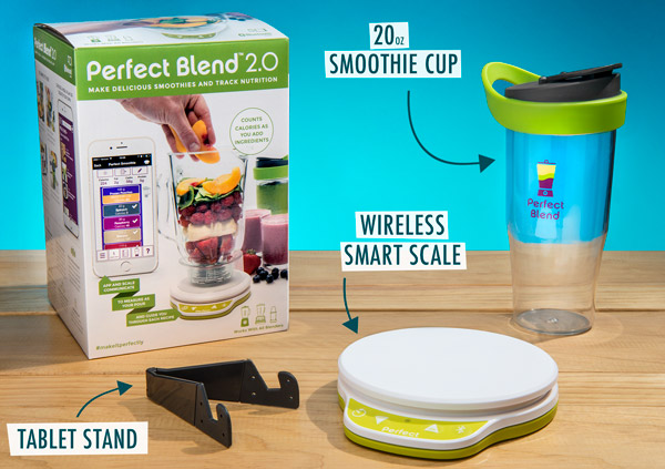 Includes tablet stand and to-go cup.
